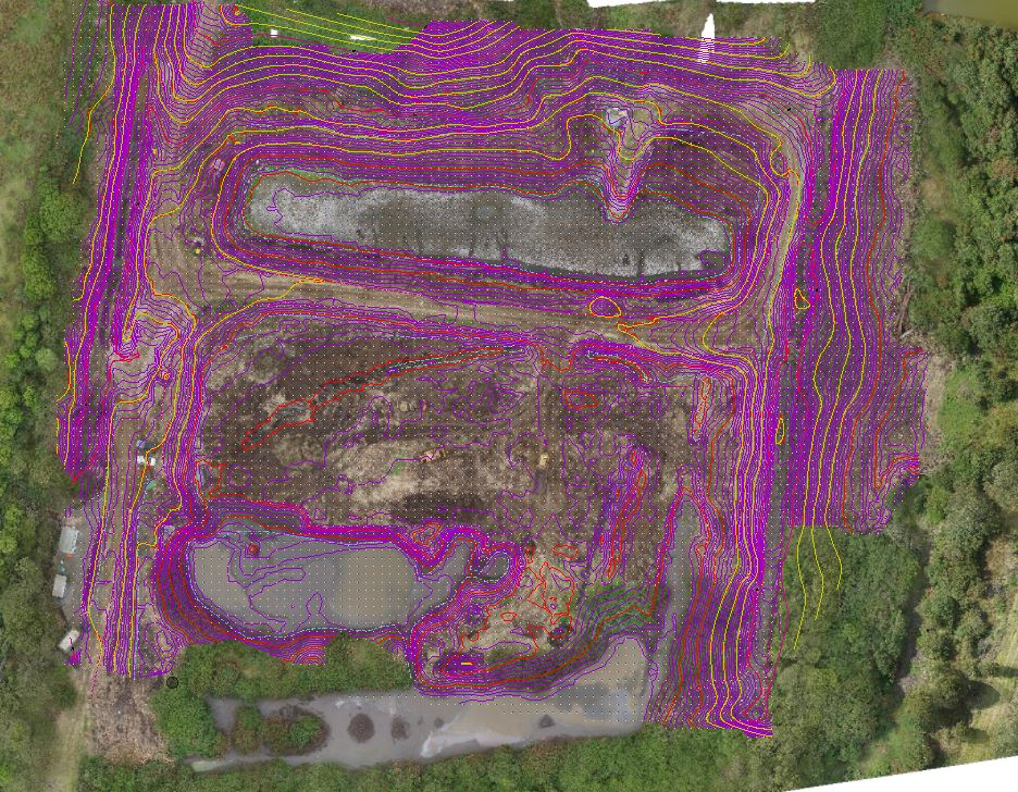 Landfill with aerial
